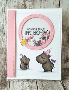 Lori's Crafty Spot: MFT Sketch Challenge 345 | Wishing You a Hippo Bird-Day