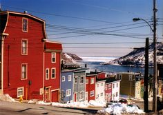 Downtown St.John's - St. Johns, Newfoundland...love this pic with the harbour in the background!