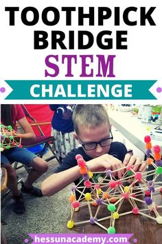 Whether you're looking for an engaging STEM challenge idea or for a fun indoor activity for kids, these toothpick bridges make a great STEM activity for older kids and younger kids alike! Even middle school and high school students can enjoy this toothpick bridge STEM challenge. Summer Camp Activities, Preschool Science Activities, Steam Activities, Stem Science, Indoor Activities For Kids, Science Education, Science Resources, Summer Science, Science Projects