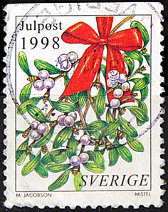 Stamp: Flowers and christmas decoration (Sweden) (Christmas Mi:SE Christmas Wreaths, Christmas Decorations, Holiday Decor, Sweden Christmas, The Birth Of Christ, Twelfth Night, Mistletoe, Yule, All Things Christmas