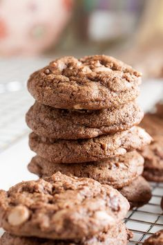 Mocha Mudslide Cookies – rich with the flavours of chocolate and espresso, studded with both chocolate chips and cappuccino chips.