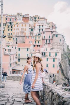 Gal Meets Glam Cinque Terre - Manarola and Riomaggiore. Julia's dress by Lovers + Friends and Rose's dress by Kendall + Kylie