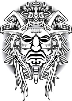 Aztec tattoos in the tribal form are equally popular as their colorful counterparts. Here is information on the meanings associated with some of the most popular Aztec designs. Aztec Tattoo Designs, Polynesian Tattoo Designs, Tattoo Sleeve Designs, Sleeve Tattoos, Kunst Tattoos, Body Art Tattoos, Female Tattoos, Inka Tattoo, Mayan Tattoos