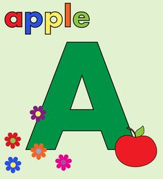 images of the letter a | Alphabet Letter A Colorful by Karen Arnold