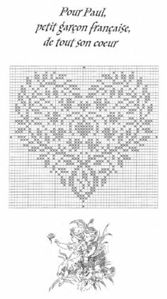 filet crochet, cross stitch, knitting (once converted to rectangular gri Cross Stitch Boards, Cross Stitch Needles, Cross Stitch Heart, Cross Stitch Samplers, Cross Stitching, Embroidery Hearts, Cross Stitch Embroidery, Embroidery Patterns, Cross Stitch Designs