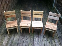 Recycled Pallets DIY Rustic Pallet Table And Chairs