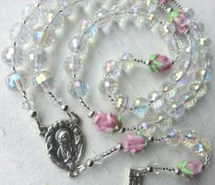 Crystal First Communion Rosary