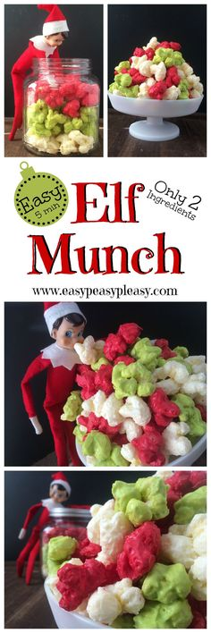 Elf Munch is the perfect treat for those Elves On The Shelf to deliver too the whole family. No popcorn here and it only takes 5 minutes to make with 2 only Ingredients.