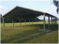 """<p dir=""""ltr"""">Pole barn roof kit 54x100x12 <br> Posts and trusses 12' on center <br> This listing is for as follows <br> 18- 6x6x16 critical structure treated posts <br> 9- 50' trusses with 2' overhang 4/12 double cord HD <br> 2x6 roof purlings <br> Screws and hardware <br> 29 gauge steel roof and trims </p> <p dir=""""ltr"""">These make great equipment storage <br> And hay barns </p> <p dir=""""ltr"""">Customer pick up at our location <br> El Dorado kansas 67042 </p> <p dir=""""ltr"""">Delivery available nationwi Pole Barn Garage, Building A Pole Barn, Pole Barn House Plans, Metal Building Homes, Pole Barn Homes, Pole Barns, Pole Barn Kits, Pole Barn Builders, Diy Pole Barn"""