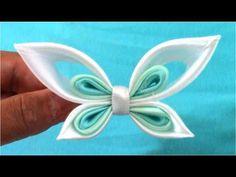 ▶ Mariposas Kanzashi butterflies ribbons en cintas para el cabello - YouTube