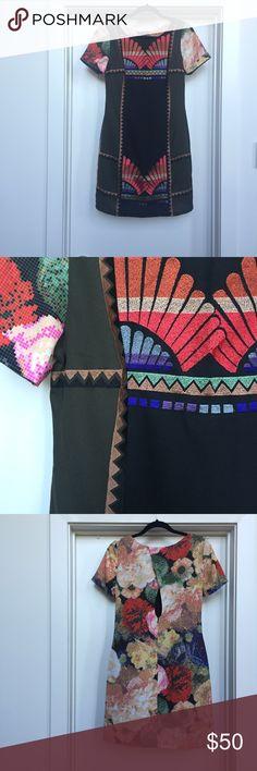 Anthropologie Asian inspired dress Ranna Gill fanned vignette shift dress. Worn once Anthropologie Dresses
