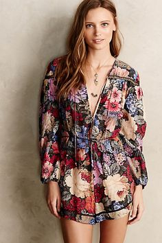 Peony Tapestry #Romper #Anthropologie