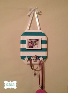 DIY dog leash holder- option for those who can't mount things to walls, but can hang picture frame. see about doing this with a basket as well?