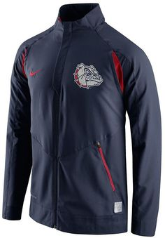 Zip up a gameday-worthy look this Nike Gonzaga Bulldogs jacket. PRODUCT FEATURES Dri-FIT Zip front 2-pocket Long sleeves Polyester Machine wash Imported