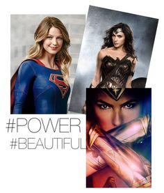 """Supergirl and Wonder Woman"" by elena-ghitulescu on Polyvore featuring art"