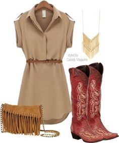 Casual Cowgirl. One pair of boots three ways to wear