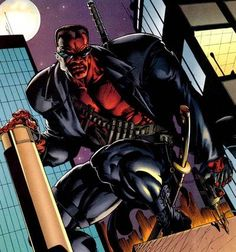 Blade as he appears in Marvel comics Comic Book Heroes, Marvel Heroes, Marvel Comics, Eric Brooks, Blade Marvel, Mundo Marvel, Cloak And Dagger, Vampire Hunter, Flesh And Blood
