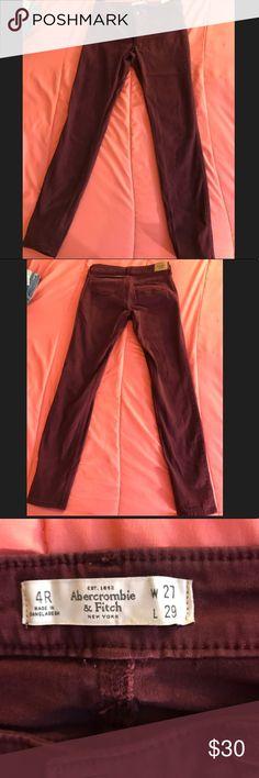 Burgundy skinny jeans by Abercrombie & Fitch Super comfy skinny jeans Abercrombie & Fitch Jeans Skinny