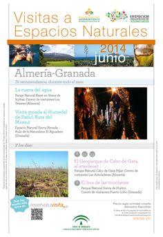Te recordamos las actividades que para el mes de Junio recomendamos en los Espacios Naturales de Almería y Granada.