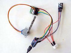 Arduino Nano and Visuino: Control Stepper Motor With Rotary Encoder - Ham Antenne - Diy Electronics, Electronics Projects, Arduino Motor, Simple Arduino Projects, Arduino Programming, Hardware Components, Arduino Board, Electrical Installation, Stepper Motor