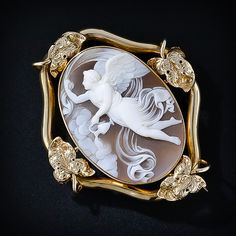 Victorian angel cameo