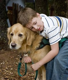 Chaz, who helps a boy with autism. | 10 Truly Incredible Guide Dogs That Will Melt Your Heart