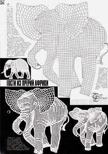 Resultado de imagem para crochet animals out of doilies Filet Crochet, Freeform Crochet, Crochet Art, Crochet Diagram, Thread Crochet, Crochet Animals, Crochet Doilies, Irish Crochet Charts, Appliques Au Crochet