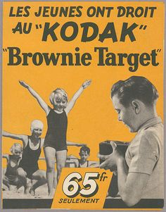 "Obviously made to take pictures of girls, right? ""KODAK"" ""Brownie Target My first camera."