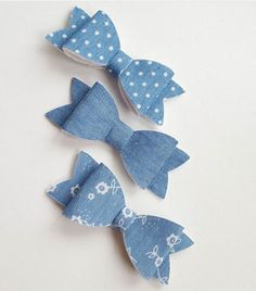 Check out this item in my Etsy shop https://www.etsy.com/uk/listing/505903590/denim-bow-denim-headband-baby-denim-bow
