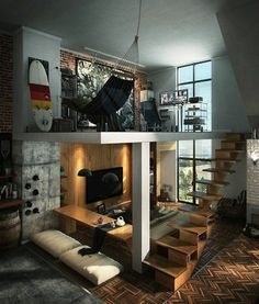 Loft furniture - Nice interior design tips for the apartment Many people love the loft design.