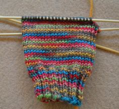 Starting a Heel Flap - © Sarah E. White, licensed to About.com, Inc.