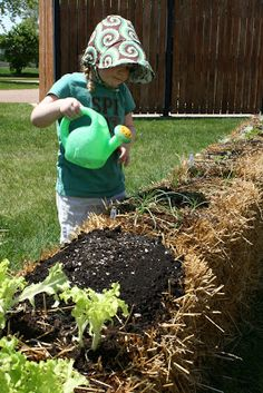 DIY a straw bale garden for the summer!
