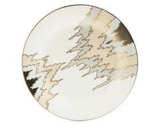 KELLY WEARSTLER | PICKFAIR SALAD PLATE. Fine Porcelain china with Platinum.