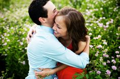 Creative Engagement Session Ideas | Cuddling in a field | Saint Paul, MN | photo by One:One | http://www.oneone.co/blog/fishing-swinging-snuggling-in-a-meadow-engagement-session-minneapolis-mn