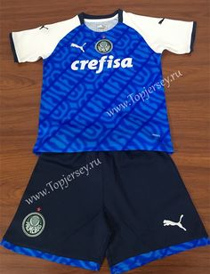 4b35b65c82e 2019-2020 Palmeiras Blue Kid/Youth Soccer Uniform Youth Soccer, Soccer Kits,