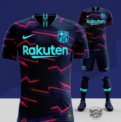 Soccer Kits, Football Kits, Football Jerseys, Barcelona Football Kit, Sports Jersey Design, Jersey Outfit, Football Outfits, Tee Design, Baskets