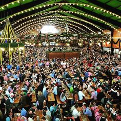 Inside the Augustiner beer tent at Oktoberfest, Munich last year. We absolutely loved it- great beer, music, food but most importantly people- and the coming together of people of all nationalities and backgrounds #oktoberfest #munich #augustiner