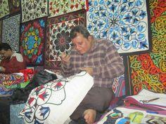 Egyptian Tent Makers Bazaar in Cairo