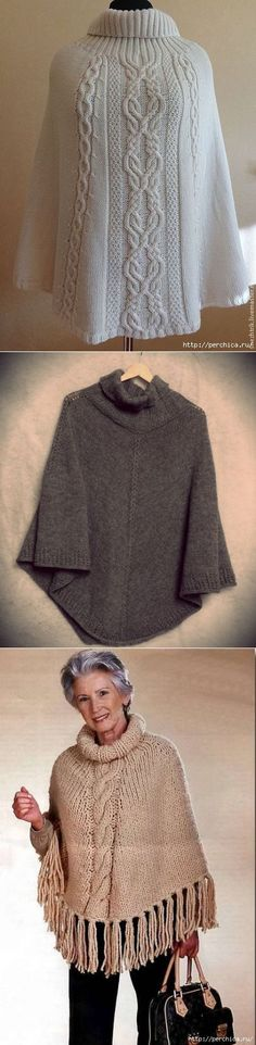 Пончо спицами *Лебединая песня* | вязание на спицах | Постила