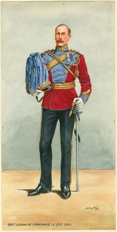 East Riding Of Yorkshire Imperial Yeomanry Officer c 1910 by E. British Army Uniform, British Uniforms, British Soldier, Commonwealth, Laurel And Hardy, History Class, Army & Navy, Modern History, Military History
