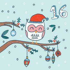 Day 16❄️ . . #design #designer #instaart #advent #december #adventcalendar #owl #snow #christmas #crimbo #countdowntochristmas #freelancedesign #freelanceillustrator #graphicdesign #pattern #greetingcards #festive #christmastree #illustrate #illustration #cute #fun #kids #childrensillustration #print #printpattern #surfacedesign #baubles #december16 #christmas2016