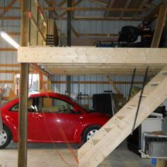 How to frame a loft loft in pole barn general for How much to build a garage with loft