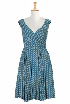Graphic diamond print dress - Hope they bring this back but need to be able to add sleeves.