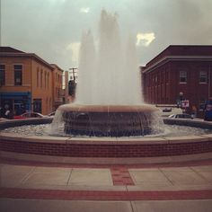 New square fountain