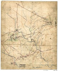 Sketch showing positions of Second Corps, A.N.Va., August 26th to September 2, 1862 : embracing engagements at Bristoe Station, Manassas Junction, Groveton or Second Manassas, and Ox Hill or Chantilly, Va.