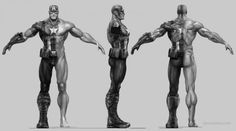 The cancelled Avengers Videogame: screens, videos & Character Model Sheet, Character Modeling, Character Concept, Character Art, Concept Art, 3d Modeling, Zbrush, Batman Concept, Captain America Suit
