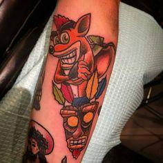 #crashbandicoot #ps1 #memories #my #tattoo #love