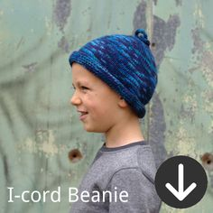 free I-Cord Beanie knitting pattern