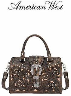American West Leather Tumbleweed Collection Small Coach Bag 8320404 Womens 186 00