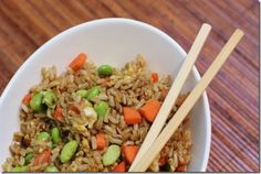 Healthy Unfried Rice- a protein rich vegetarian meal but throw in some shrimp or chicken and you have a nice L-1 meal
